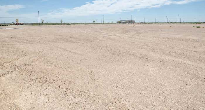 Permian Basin caliche yard
